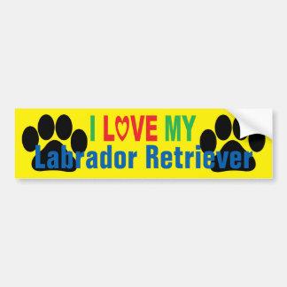 I Love My Labrador Retriever Bumper Sticker