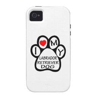 I Love My Labrador Retriever Dog Vibe iPhone 4 Cover