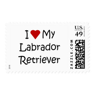I Love My Labrador Retriever Dog Lover Gifts Stamps