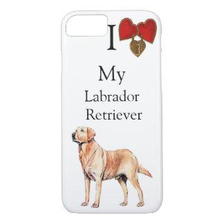 I Love My Labrador Retriever Double Heart Lock iPhone 7 Case
