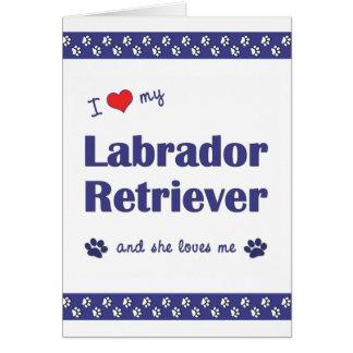 I Love My Labrador Retriever (Female Dog) Card