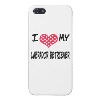 I LOVE MY LABRADOR RETRIEVER iPhone SE/5/5s COVER