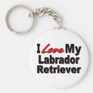 I Love My Labrador Retriever Keychain