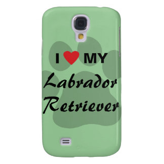 I Love My Labrador Retriever Pawprint Samsung S4 Case