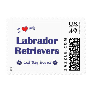 I Love My Labrador Retrievers (Multiple Dogs) Stamp