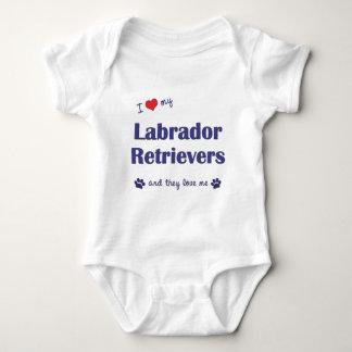 I Love My Labrador Retrievers (Multiple Dogs) T-shirt