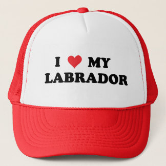 I Love My Labrador Trucker Hat