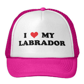 I Love My Labrador Trucker Hat