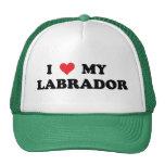 I Love My Labrador Trucker Hats
