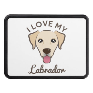 """""""I Love My Labrador"""" Yellow Lab Hitch Cover"""