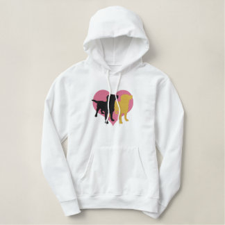 I Love My Labradors Embroidered Hoodie