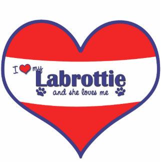 I Love My Labrottie (Female Dog) Cutout