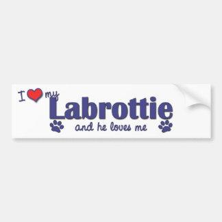 I Love My Labrottie (Male Dog) Bumper Sticker