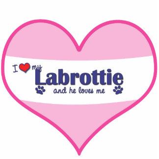 I Love My Labrottie (Male Dog) Cutout