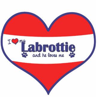 I Love My Labrottie (Male Dog) Statuette