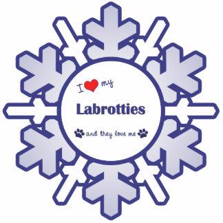 I Love My Labrotties (Multiple Dogs) Cutout