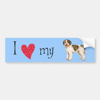 I Love my Lagotto Bumper Sticker