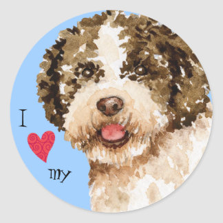 I Love my Lagotto Classic Round Sticker