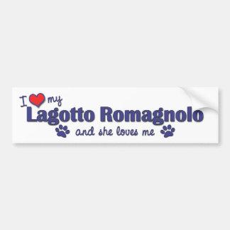 I Love My Lagotto Romagnolo (Female Dog) Car Bumper Sticker