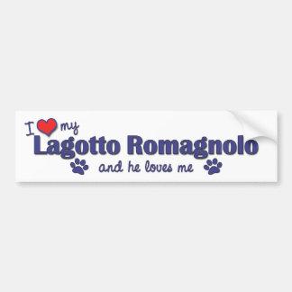 I Love My Lagotto Romagnolo Male Dog Bumper Stickers