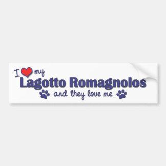 I Love My Lagotto Romagnolos Multiple Dogs Bumper Sticker
