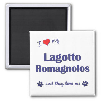 I Love My Lagotto Romagnolos (Multiple Dogs) Magnet
