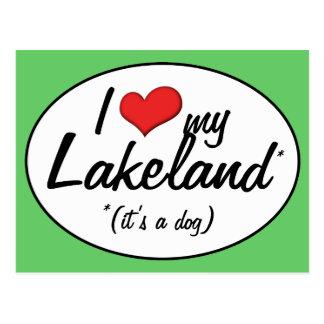 I Love My Lakeland (It's a Dog) Postcard