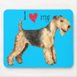 I Love my Lakeland Terrier Mouse Pad