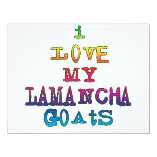 """I Love My LaMancha Goats 4.25"""" X 5.5"""" Invitation Card"""