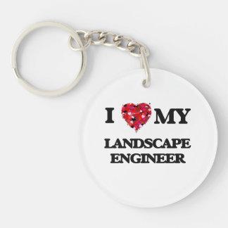 I love my Landscape Engineer Single-Sided Round Acrylic Keychain