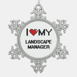 I love my Landscape Manager Snowflake Pewter Christmas Ornament