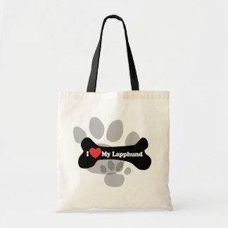 I Love My Lapphund - Dog Bone Budget Tote Bag