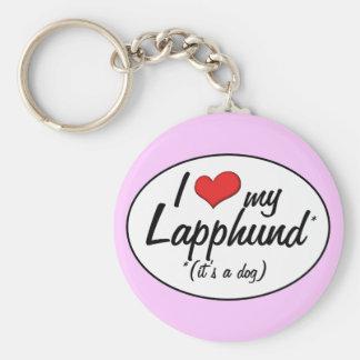 I Love My Lapphund (It's a Dog) Basic Round Button Keychain