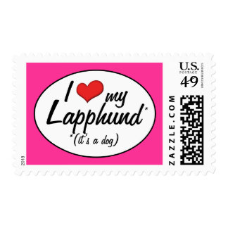 I Love My Lapphund (It's a Dog) Postage Stamps