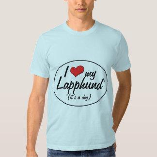 I Love My Lapphund (It's a Dog) Tee Shirt