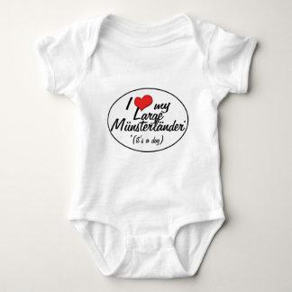 I Love My Large Munsterlander (It's a Dog) Baby Bodysuit