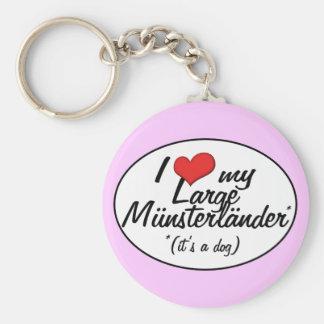 I Love My Large Munsterlander (It's a Dog) Keychain