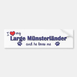 I Love My Large Munsterlander (Male Dog) Bumper Sticker