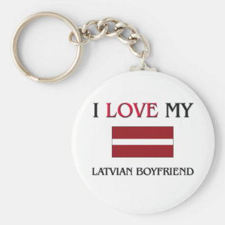 I Love My Latvian Boyfriend Key Chains