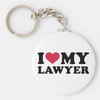 I love my Lawyer Basic Round Button Keychain