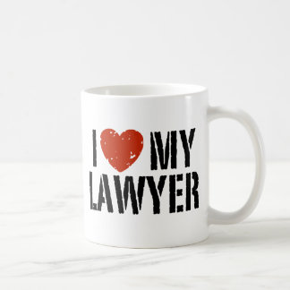 I Love My Lawyer Classic White Coffee Mug