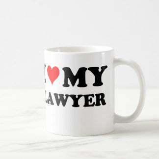 I Love My Lawyer Mugs