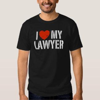 I Love My Lawyer Tee Shirt