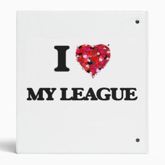 I Love My League Vinyl Binder