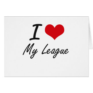 I Love My League Stationery Note Card