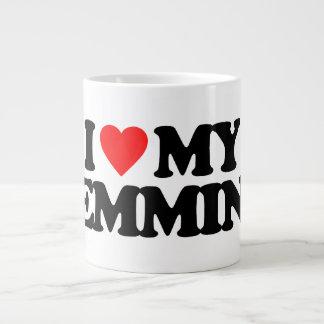 I LOVE MY LEMMING 20 OZ LARGE CERAMIC COFFEE MUG
