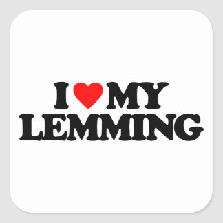 I LOVE MY LEMMING STICKER