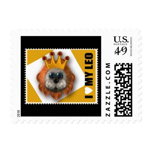 I Love My Leo Stamp