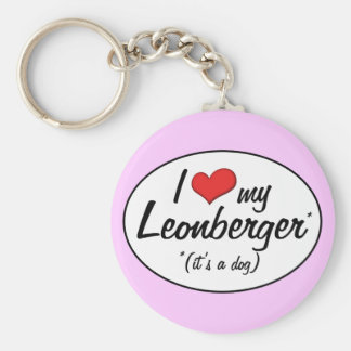 I Love My Leonberger (It's a Dog) Keychains