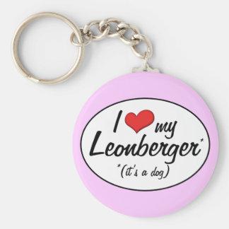 I Love My Leonberger (It's a Dog) Keychain